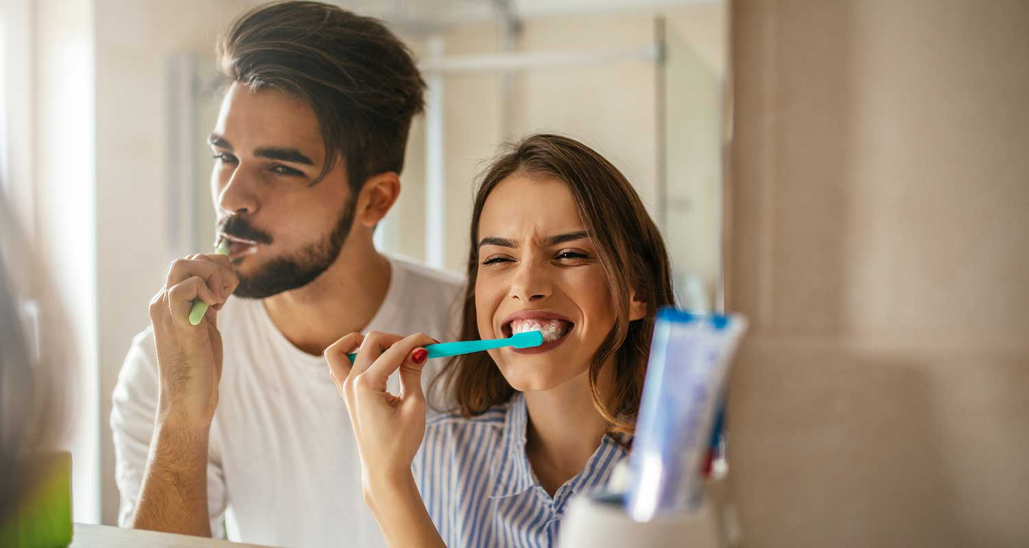Dentist Pleasanton Family Brushing Teeth